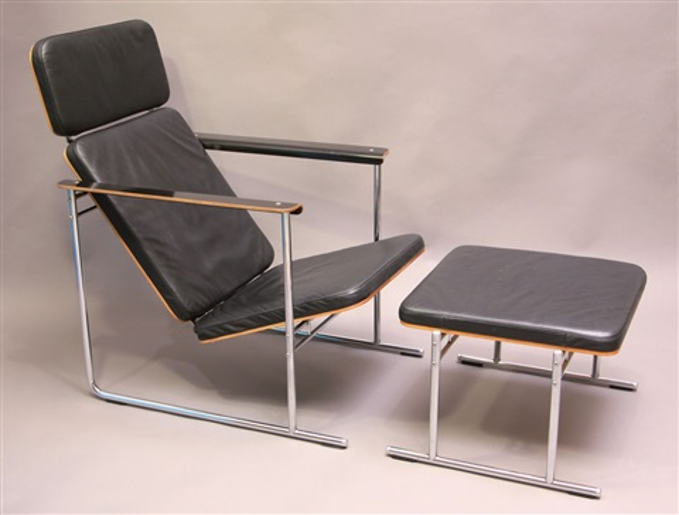 skaala lounge chair und ottomane (pair) by yrjö kukkapuro