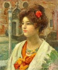 porträt einer venezianerin by claude marks