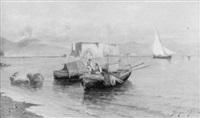 fischerboote an der neapolitanischen küste by roberto scognamiglio