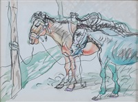 马 (horses) by luo zhongli