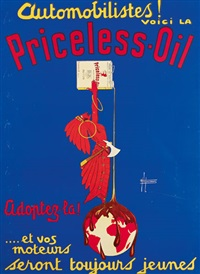 automobilistes! voici la priceless oil (poster) by h. de laurencin