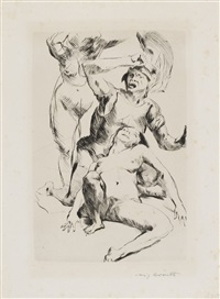 frauenraub iii / theseus und ariadne i (2 works) by lovis corinth