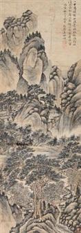 清溪层峦图 by li shizhuo