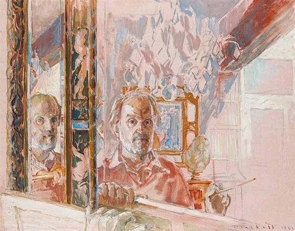 Double Self In Venetian Mirror By Joseph Francis Plaskett On Artnet