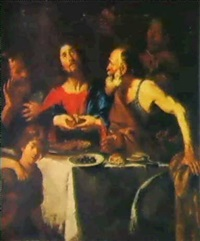 the supper at emmaus by silvestro chiesa