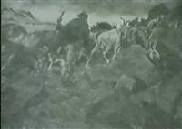 ziegenherde im hochgebirge by alexander de laforgue