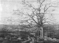 a landscape with figures by william greason