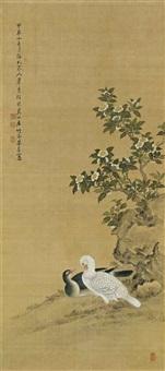 ducks and tong blossoms by liang ji