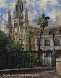st. louis cathedral, french quarter by antoine gaston alciatore