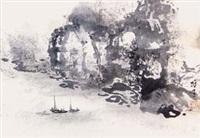 江岸舟行 by li xiongcai
