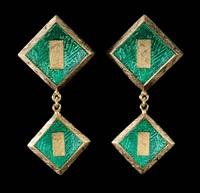 earrings (pair) by j. kimmel & co.