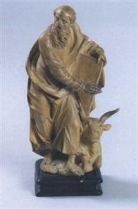 evangelist lukas mit seinem symboltier, dem stier by marian rittinger