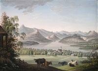 ansicht auf den vierwaldstädter see bey küsnacht am rigi by johann ludwig (louis) bleuler