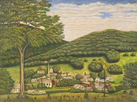 a view of forestville, new york by american school (19)