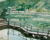 1950年代作 西湖春色 by guan liang