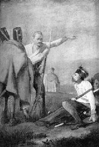 ungarische infanteristen auf einer anhöhe by johanes baptiste pflug