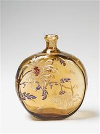 glass bottle by cristallerie d'emile gallé