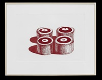 cherry cakes (from recent etchings ii) by wayne thiebaud