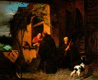 friars collecting provisions by petrus kremer