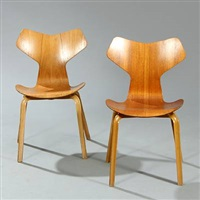 grand prix chairs (model 4130) (pair) by arne jacobsen