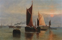moored boats by david st. john