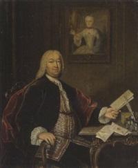 porträt des herrn küstner, kauf- und handelsherr by tiebout regters