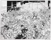 canardo, le combat de boxe by benoit sokal