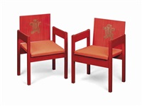 prince of wales investiture chairs (pair) by snowdon