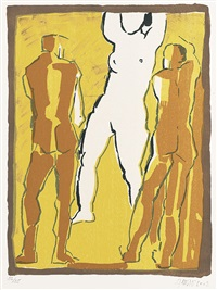 studien für skulpturen (portfolio of 4 w/ frontispiece & 1 etching) by herbert albrecht