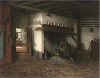warming the broth by jacques (jacob cornelis) snoeck