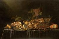 stillleben mit früchten und geschirr by andries benedetti