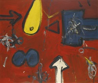 study for the temple no. 1 (red) by alan davie