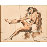 nude study by paul t. frankl