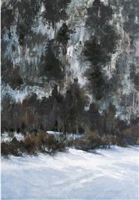 mountains in winter by liao wanchun