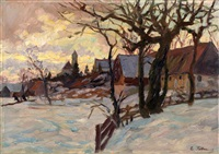 winter in dachau by carl friedrich felber