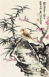 花卉小鸟 (一件) by xie zhiliu and chen peiqiu