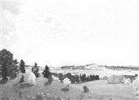 landschaft bei kloster andechs by karl huber-inning