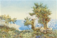 orange trees, taormina, sicily by edith helena adie
