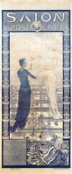 Carlos schwabe auction results carlos schwabe on artnet for Salon rose croix