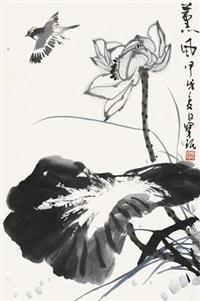 熏风 立轴 设色纸本 by jia baomin