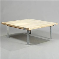 square coffee table (model ml 188) by illum wikkelsø