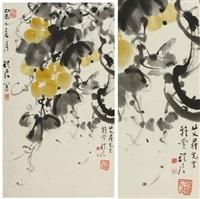 gourdes dans leur feuillage by dai wanjun
