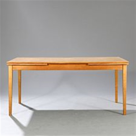 Oak Dining Table With Extension Leaves By Kaj Winding