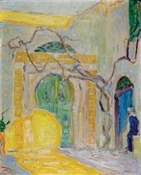an old court in tunis by frank townsend hutchens