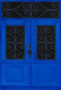 den blå dør i menton (the blue door in menton) by albert mertz