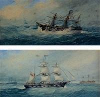 sailing ship in distress by richmond markes