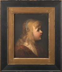 young girl in profile (study) by george david coulon