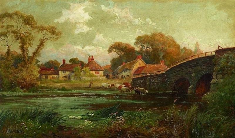 englische flußlandschaft nahe bournemouth by john gunson atkinson