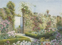 a blaze of flowers, villa capponi, florence by edith helena adie