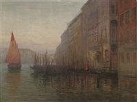 dawn on the grand canal, venice by mikhail rundaltsov